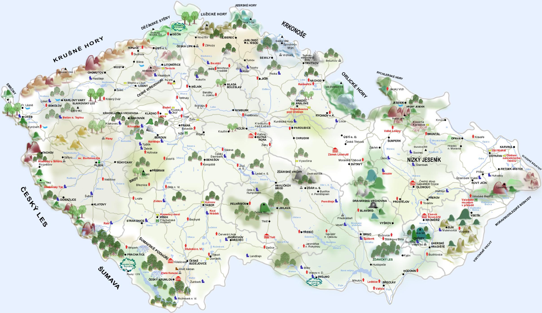 Turisticka Mapa Cr Blogcestnik Cz